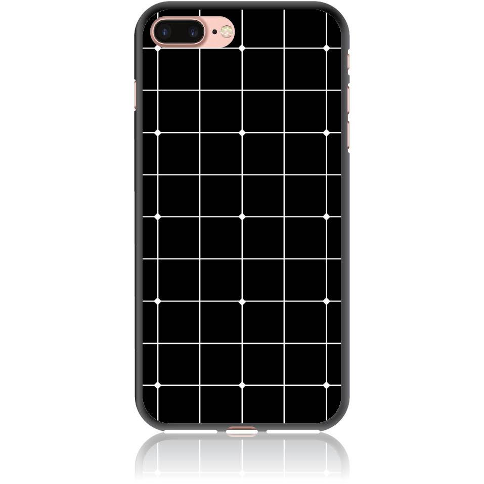 Pattern Black Lines Case Design 50035  -  Iphone 8 Plus  -  Soft Tpu Case