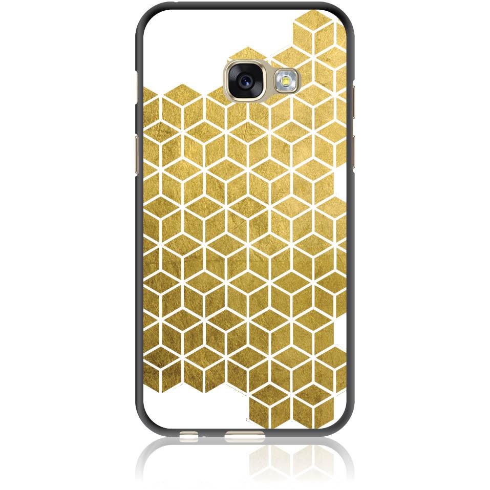 Gold Cubes Phone Case Design 50038  -  Samsung Galaxy A3 (2017)  -  Soft Tpu Case