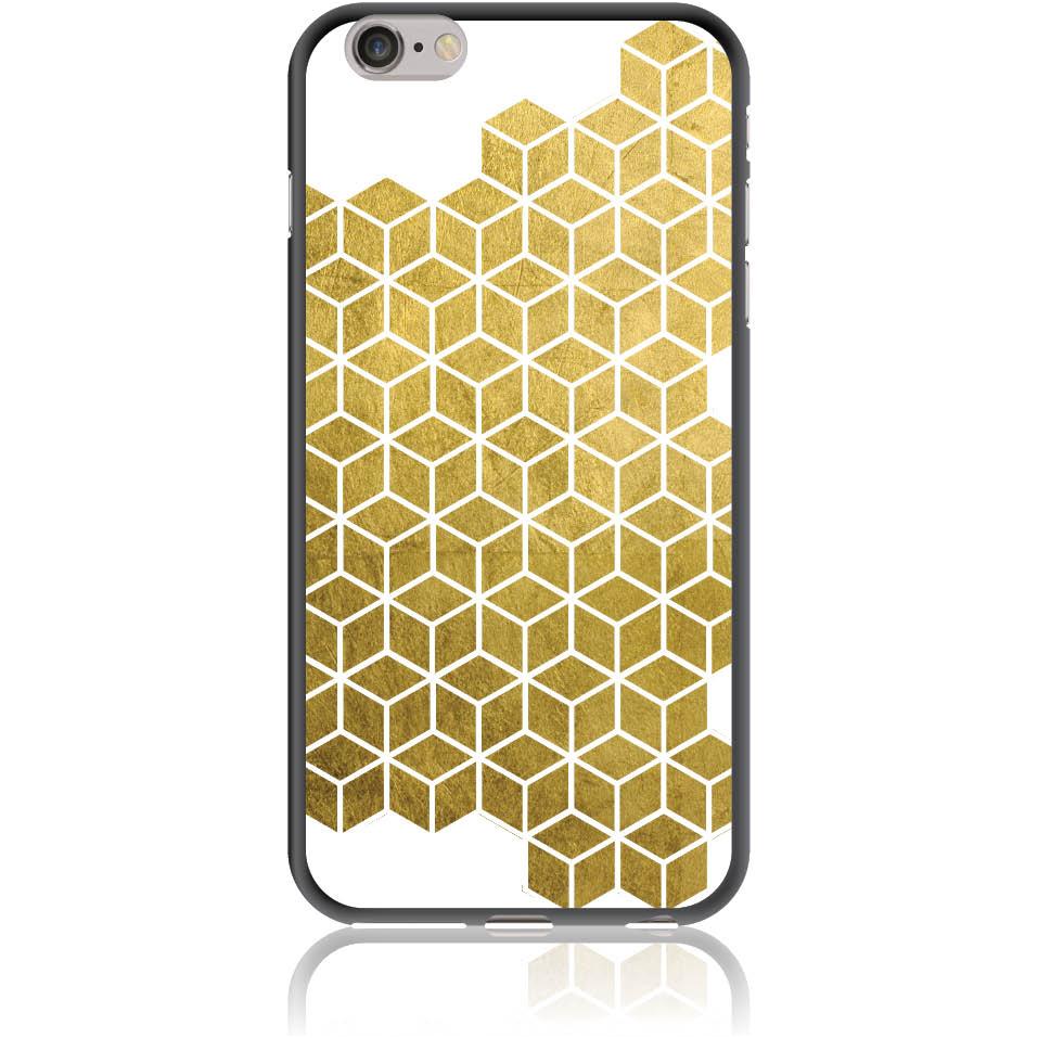 Gold Cubes Phone Case Design 50038  -  Iphone 6/6s Plus  -  Soft Tpu Case