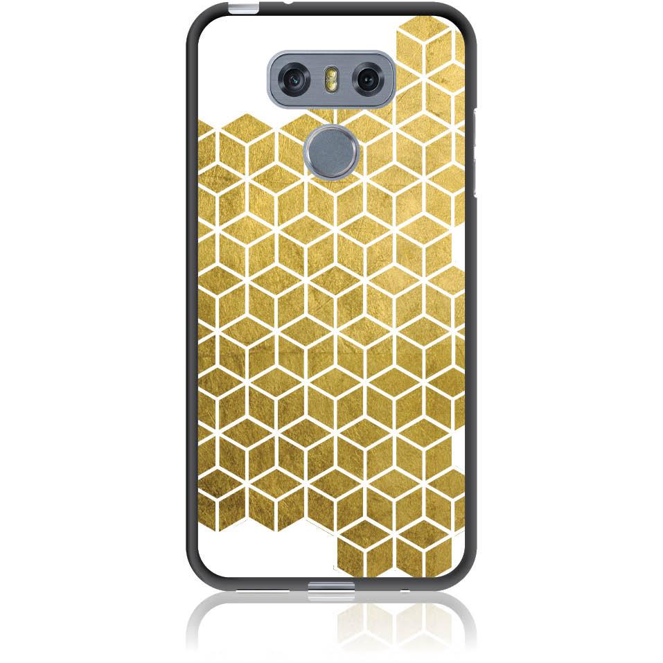 Gold Cubes Phone Case Design 50038  -  Lg G6  -  Soft Tpu Case