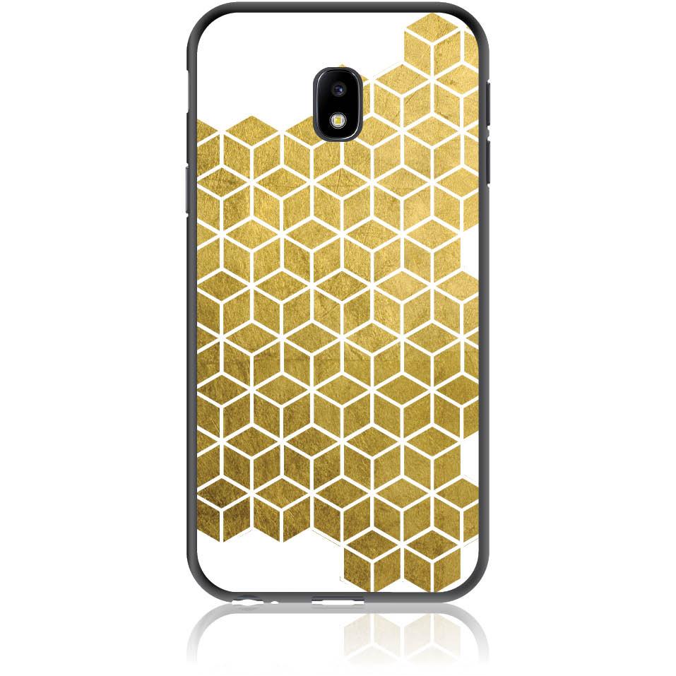Gold Cubes Phone Case Design 50038  -  Samsung Galaxy J3 (2017) J330  -  Soft Tpu Case