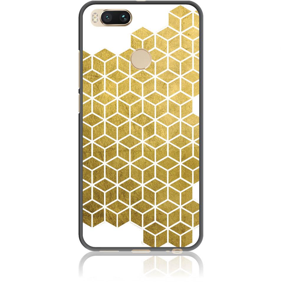 Gold Cubes Phone Case Design 50038  -  Xiaomi Mi A1  -  Soft Tpu Case