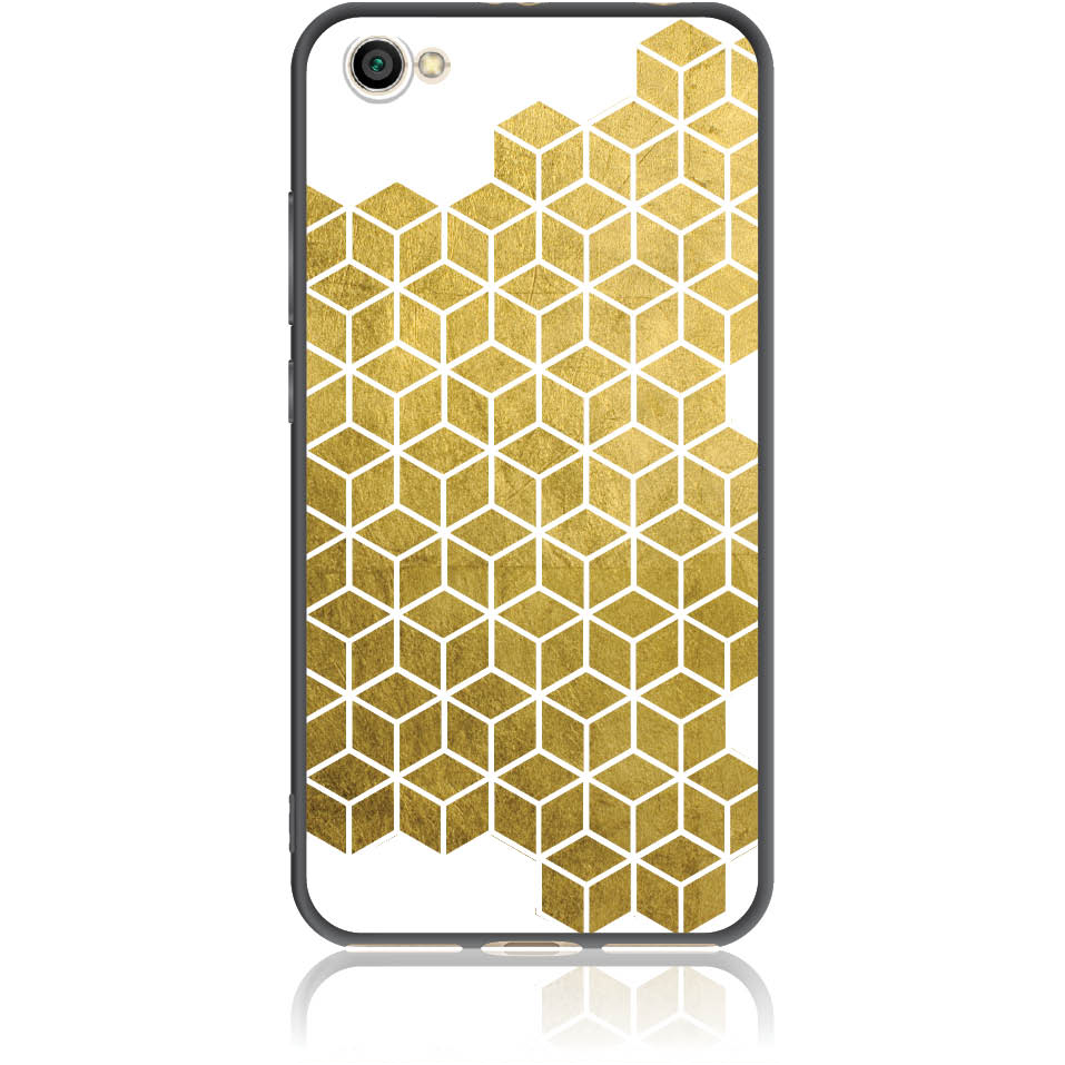 Gold Cubes Phone Case Design 50038  -  Xiaomi Redmi Note 5a  -  Soft Tpu Case