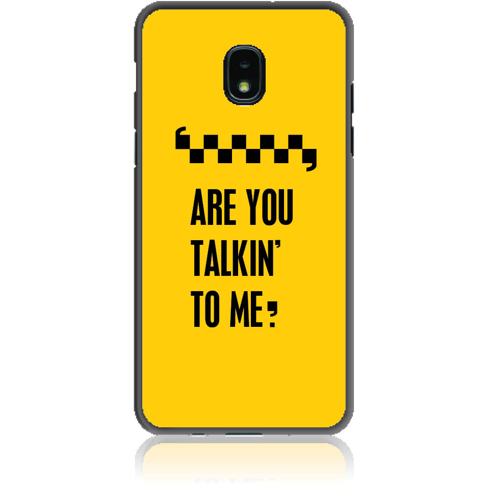 Are You Talking To Me? Taxi Drive Art Phone Case Design 50041 - Galaxy J3 - Soft Tpu Case