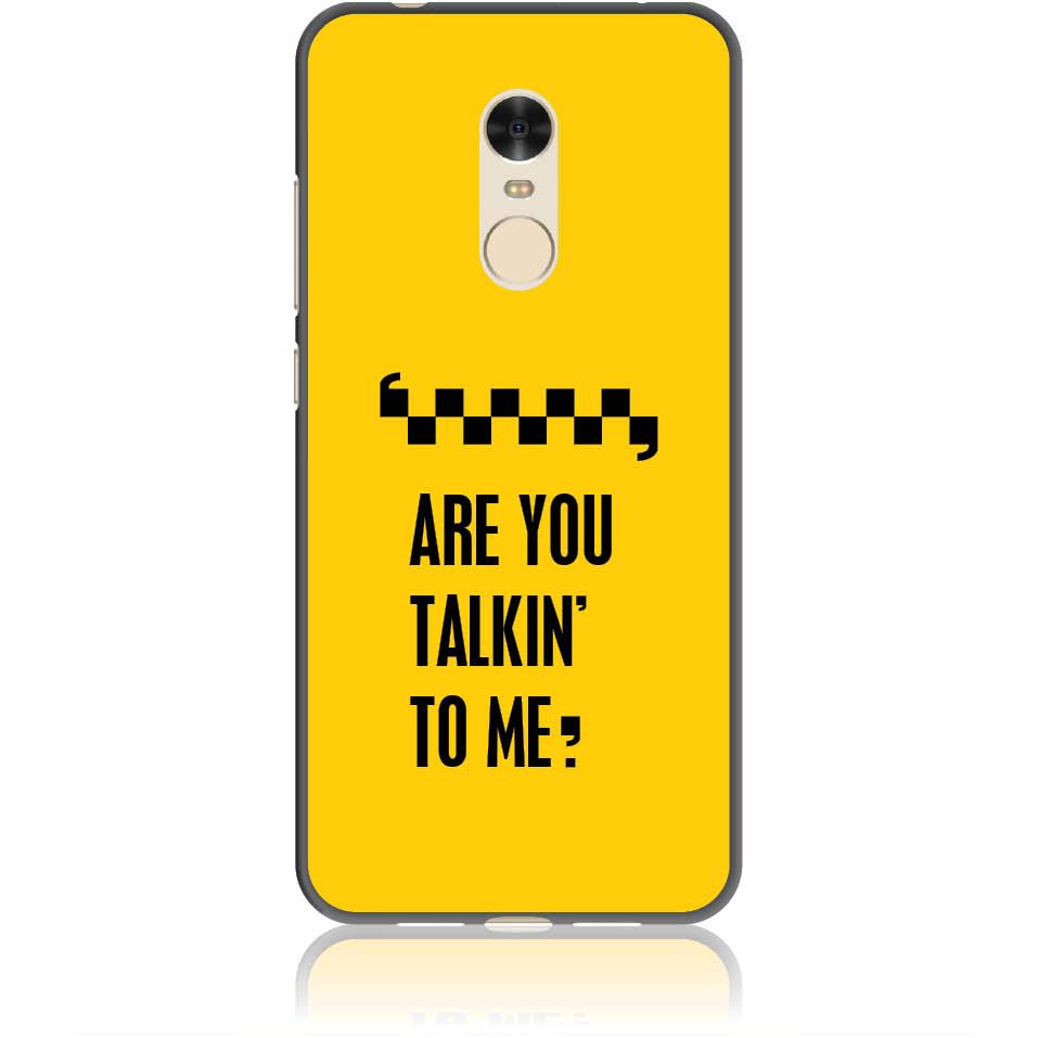 Are You Talking To Me? Taxi Drive Art Phone Case Design 50041  -  Xiaomi Redmi 5  -  Soft Tpu Case