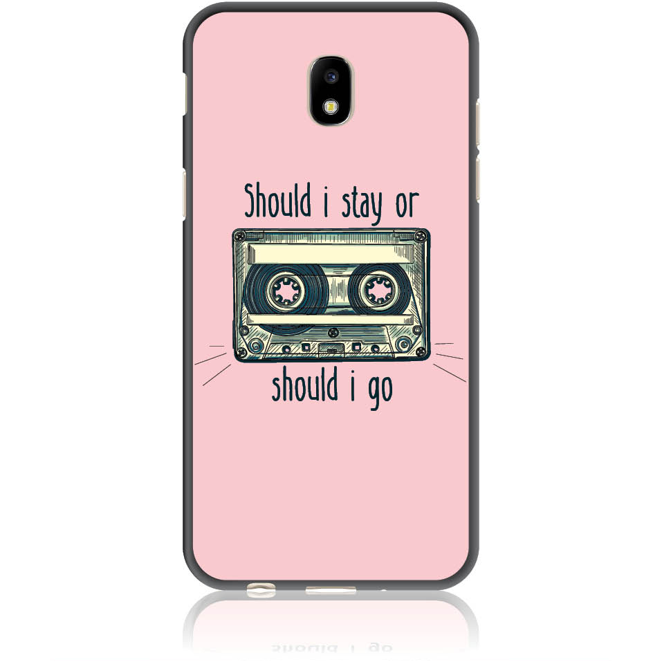Should I Stay Should I Go Phone Case Design 50058 - Galaxy J5 () J530 - Soft Tpu Case