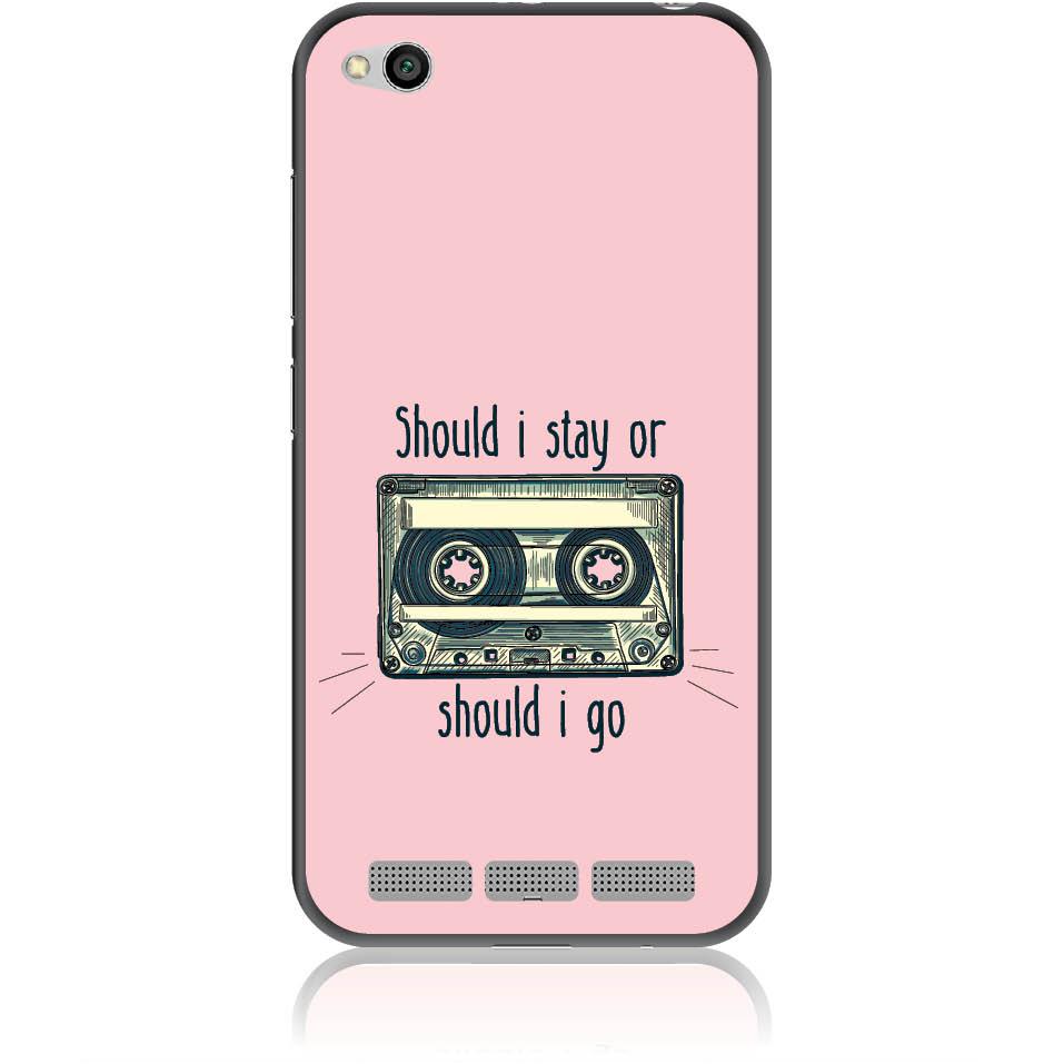 Should I Stay Or Should I Go Phone Case Design 50058  -  Xiaomi Redmi 5a  -  Soft Tpu Case
