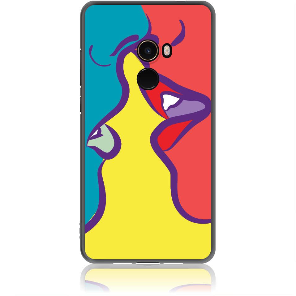 Pop Art Kiss Phone Case Design 50074  -  Xiaomi Mi Mix 2  -  Soft Tpu Case
