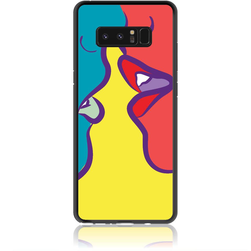 Pop Art Kiss Phone Case Design 50074  -  Samsung Galaxy Note 8  -  Soft Tpu Case