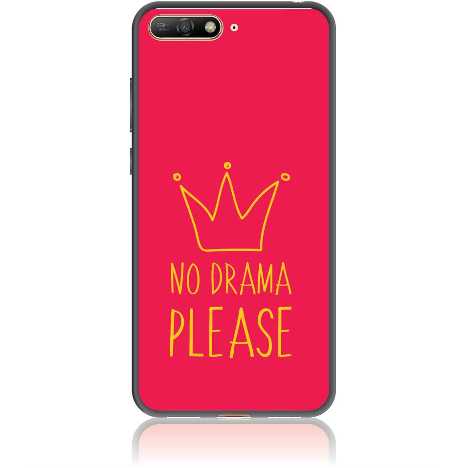 No Drama Please Red Phone Case Design 50092  -  Huawei Y6 2018  -  Soft Tpu Case