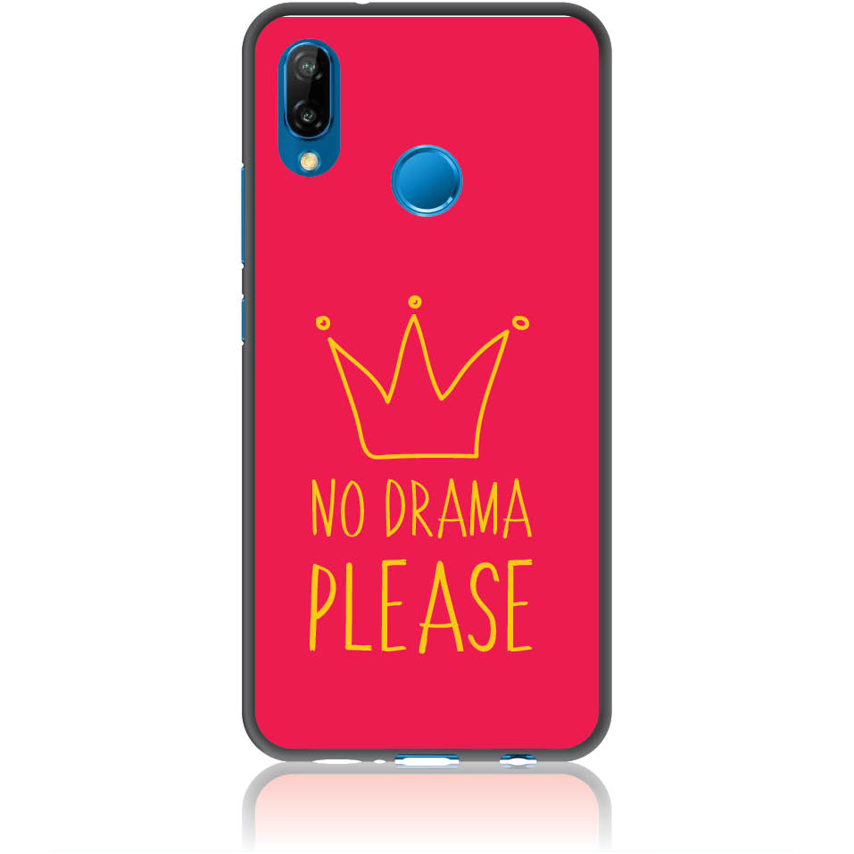 No Drama Please Red Phone Case Design 50092  -  Huawei P20 Lite  -  Soft Tpu Case