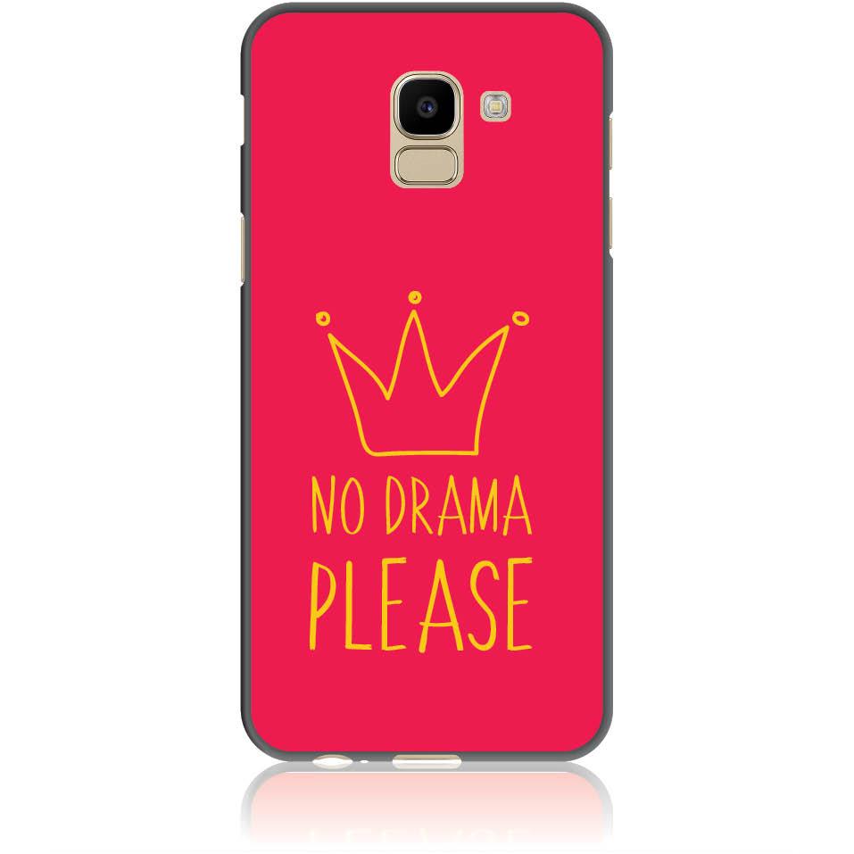 No Drama Please Red Phone Case Design 50092  -  Samsung Galaxy J6  -  Soft Tpu Case