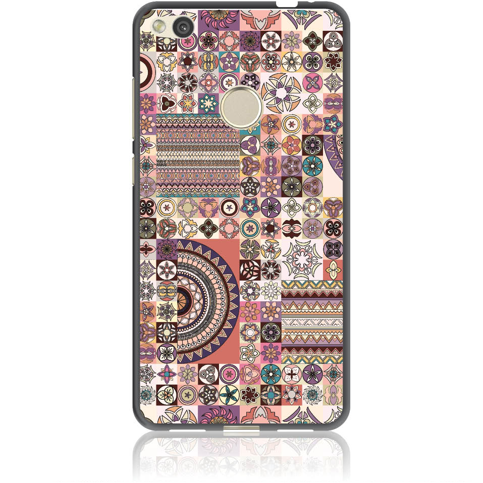 Vintage Pattern Phone Case Design 50093  -  Honor 8 Lite  -  Soft Tpu Case