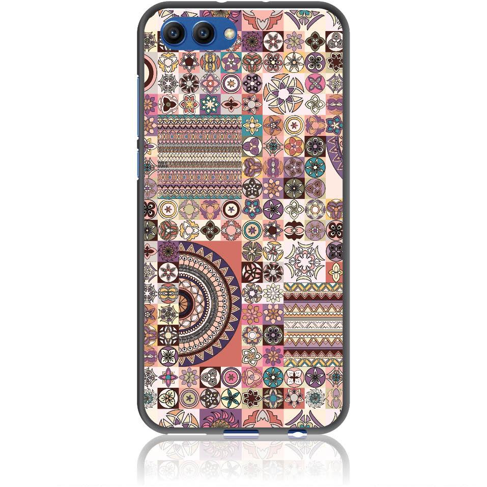 Vintage Pattern Phone Case Design 50093  -  Honor View 10  -  Soft Tpu Case