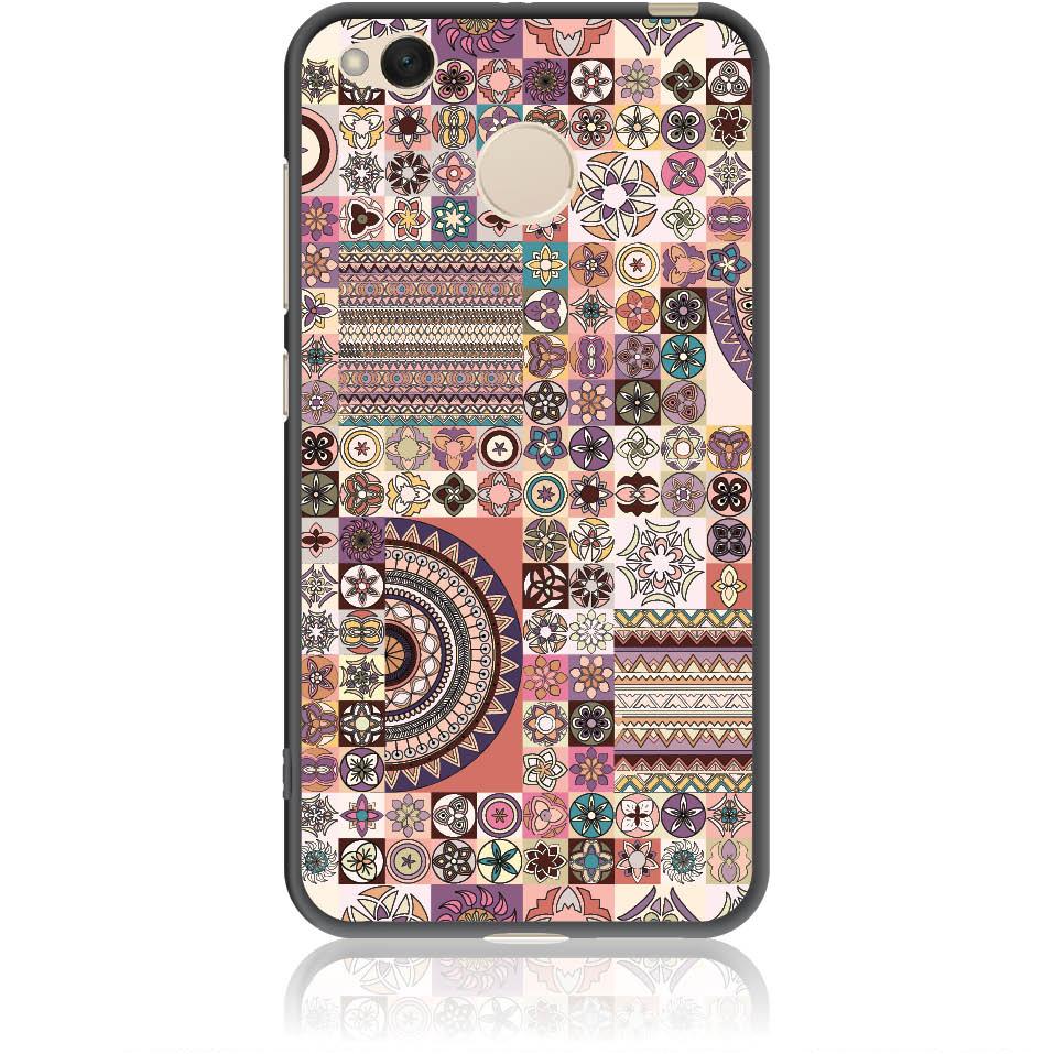 Vintage Pattern Phone Case Design 50093  -  Xiaomi Redmi 4x  -  Soft Tpu Case