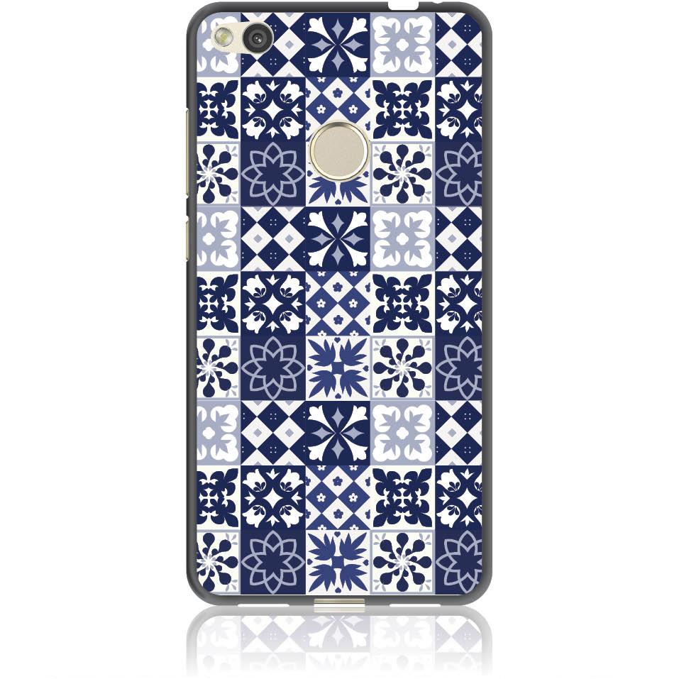 Blue Vintage Phone Case Design 50094  -  Huawei P8 -