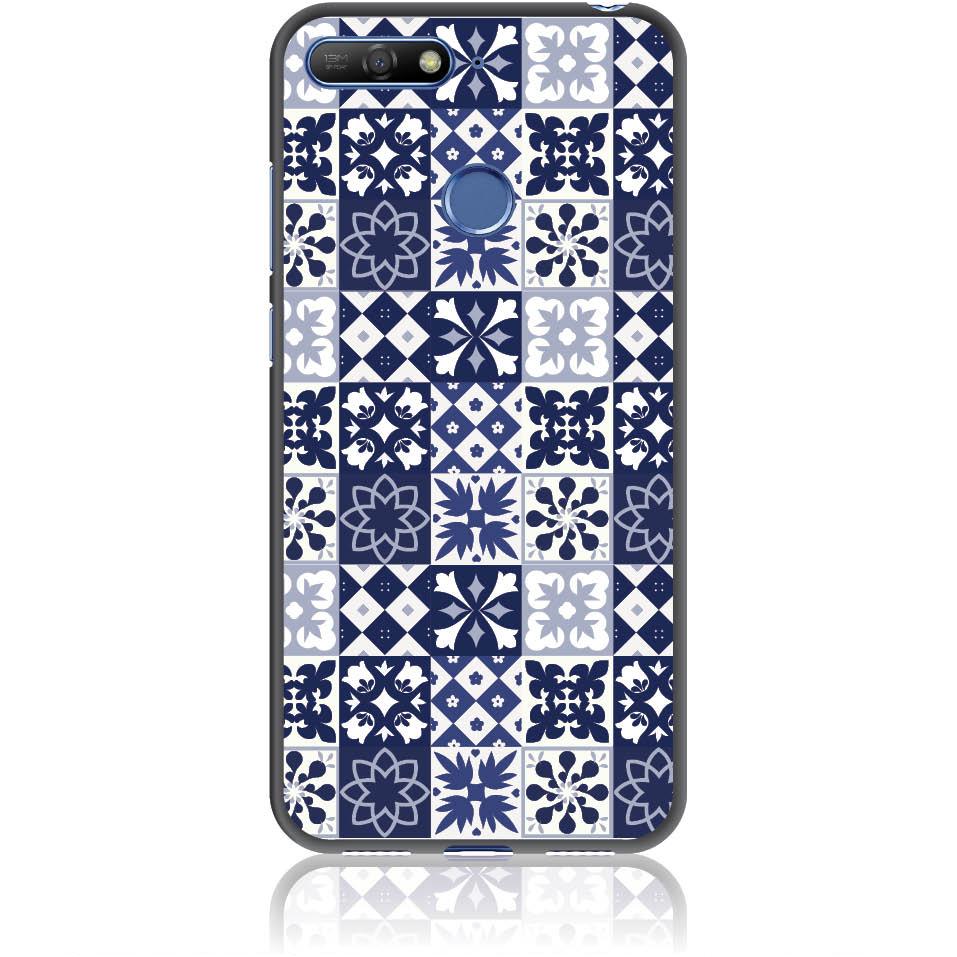 Blue Vintage Phone Case Design 50094  -  Huawei Y6 Prime 2018  -  Soft Tpu Case