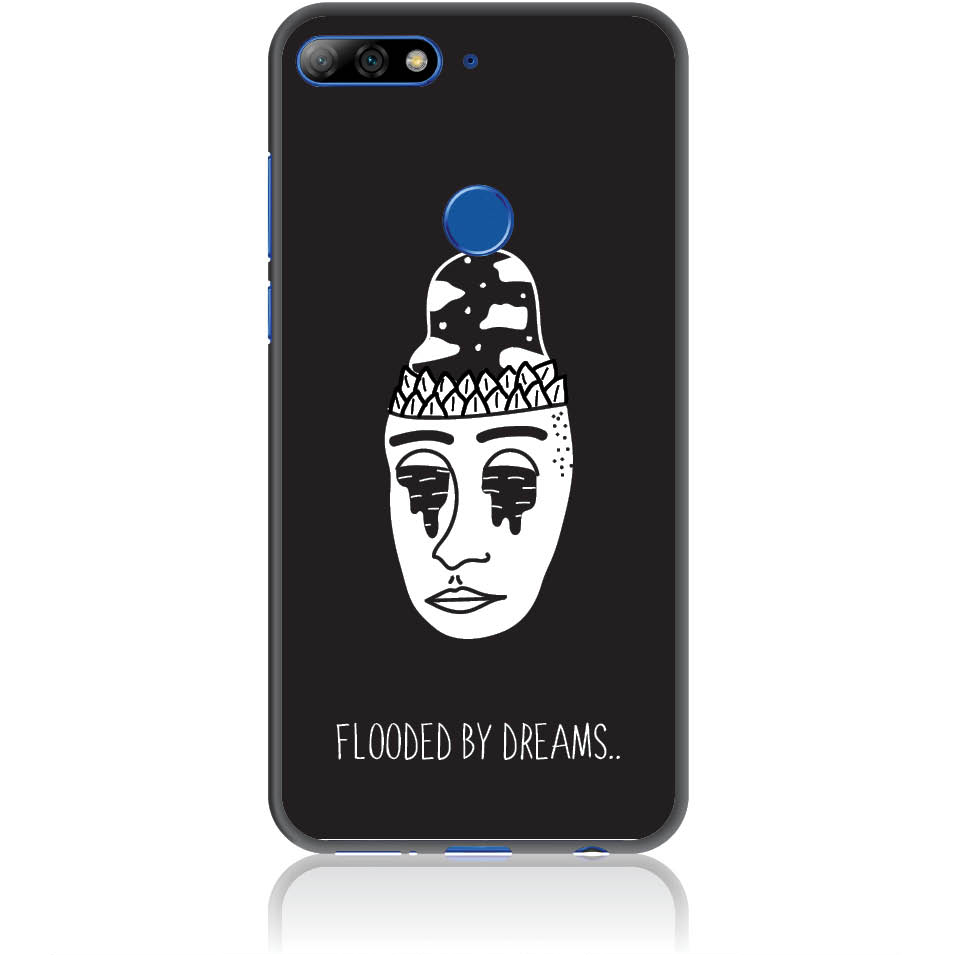 Flooded By Dreams Phone Case Design 50101  -  Huawei Y7 Prime 2018  -  Soft Tpu Case