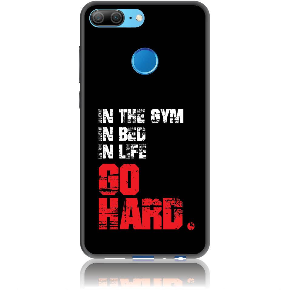 Go Hard Gym Addicted Phone Case Design 50133  -  Honor 9 Lite  -  Soft Tpu Case