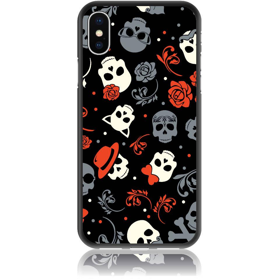 Party Skulls Phone Case Design 50141  -  Iphone X  -  Soft Tpu Case