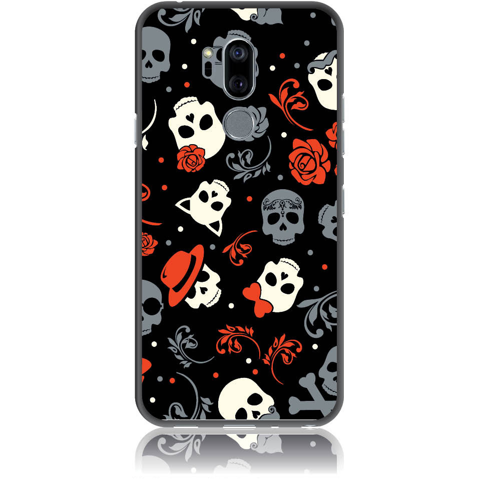 Party Skulls Phone Case Design 50141  -  Lg G7 Thinq  -  Soft Tpu Case