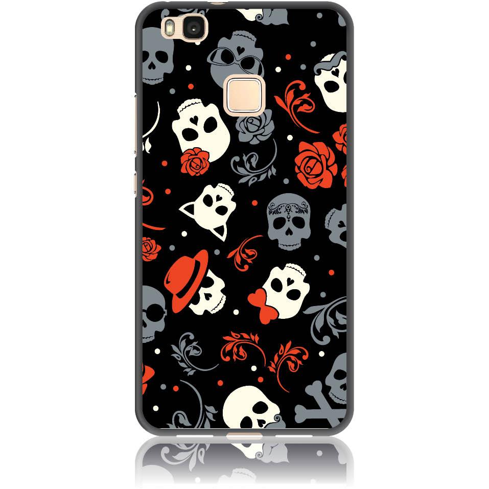 Party Skulls Phone Case Design 50141  -  Huawei P9 Lite (2016)  -  Soft Tpu Case