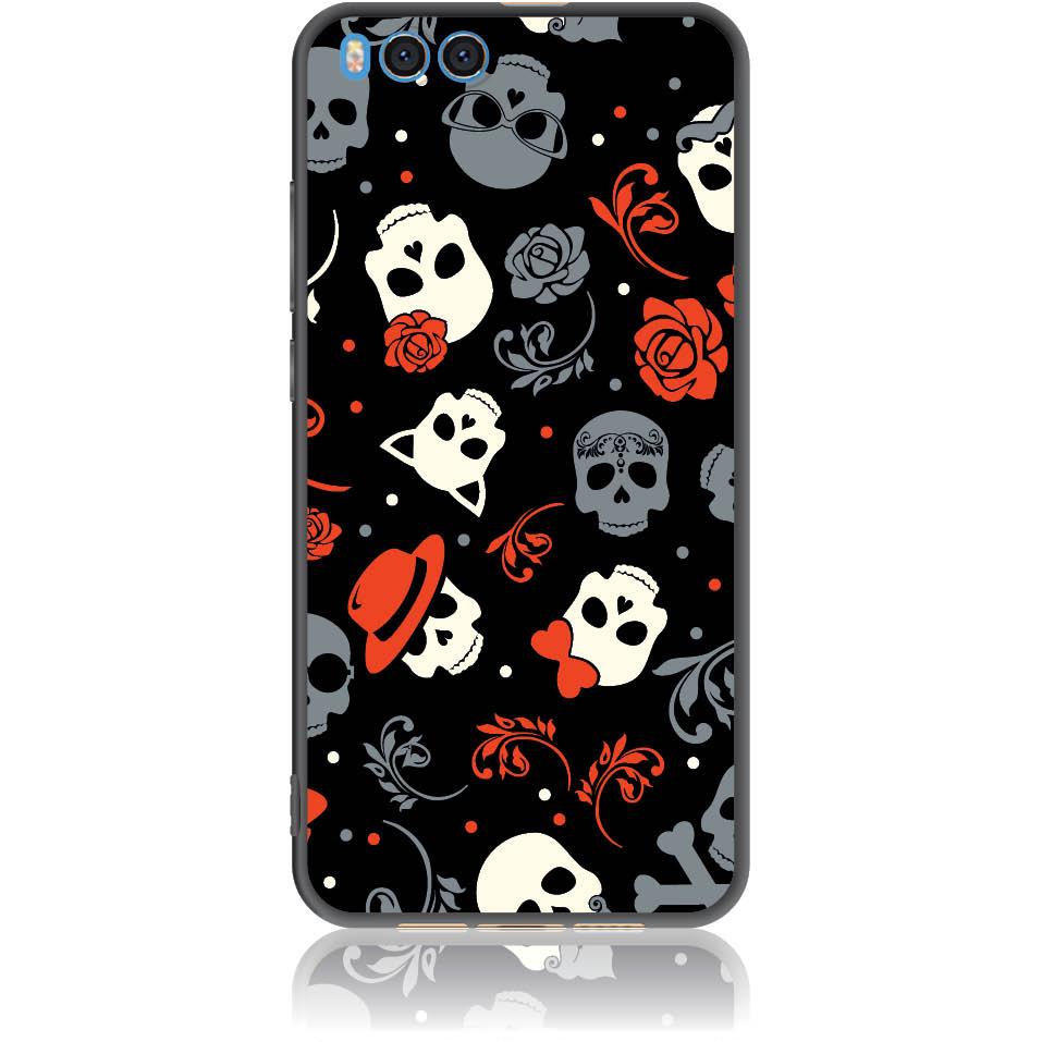 Party Skulls Phone Case Design 50141  -  Xiaomi Mi Note 3  -  Soft Tpu Case