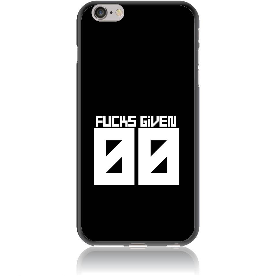 Zero Fucks Given Phone Case Design 50145  -  Iphone 6/6s Plus  -  Soft Tpu Case