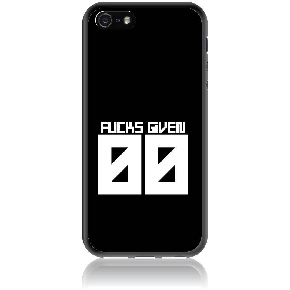 Zero Fucks Given Phone Case Design 50145  -  Iphone 5 -