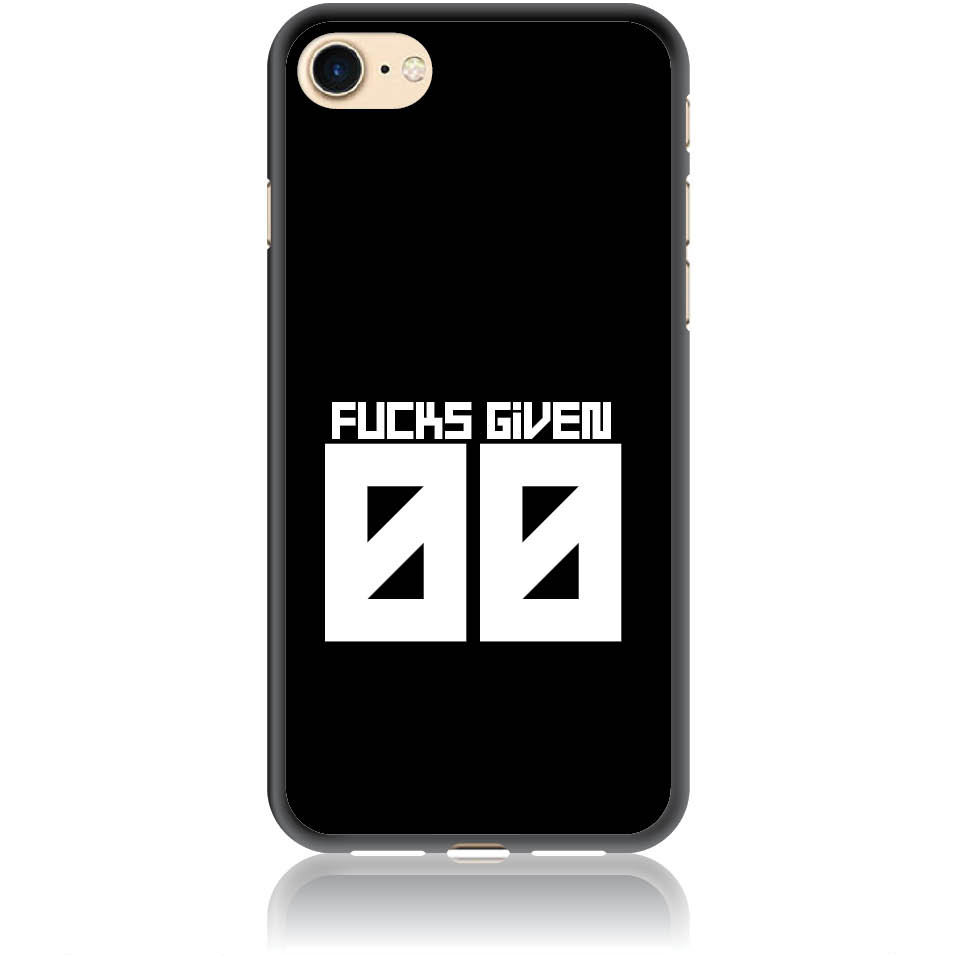Zero Fucks Given Phone Case Design 50145  -  Iphone 7  -  Soft Tpu Case
