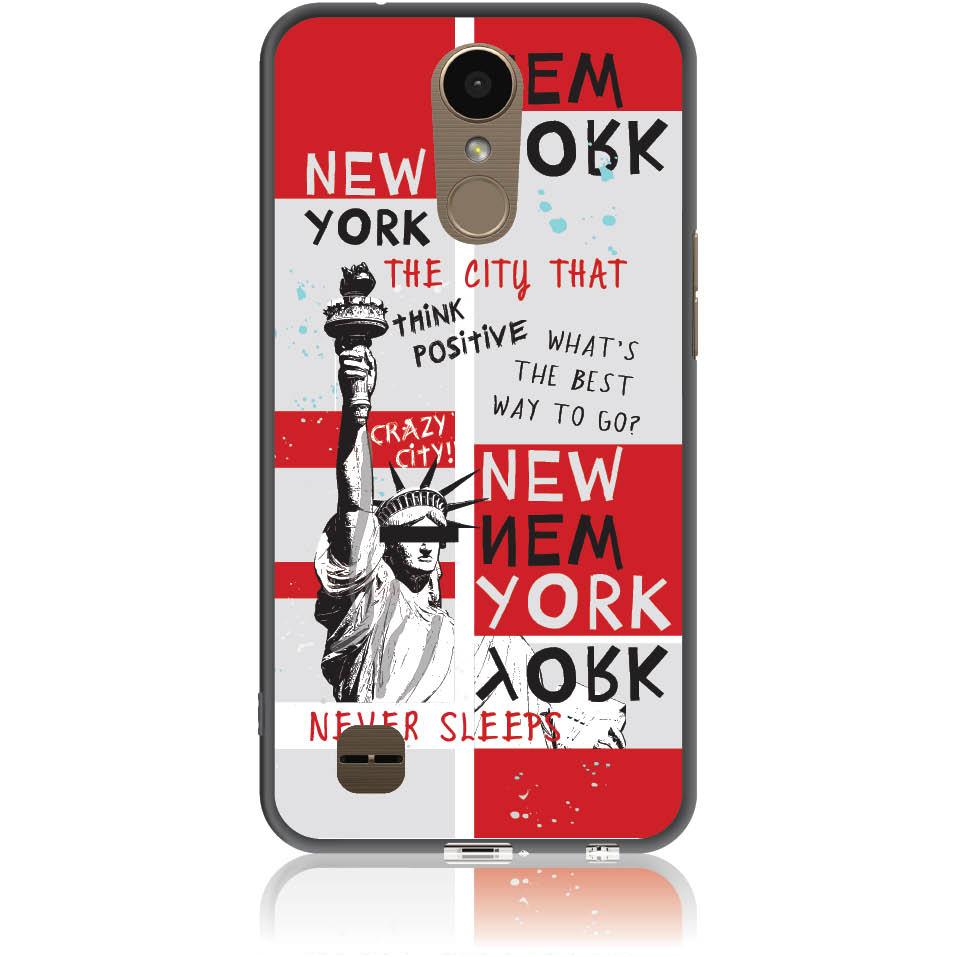 Crazy City New York Phone Case Design 50159  -  Lg K10 2017  -  Soft Tpu Case