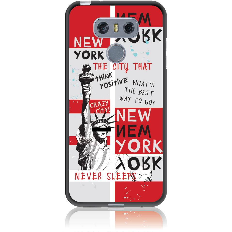 Crazy City New York Phone Case Design 50159  -  Lg G6  -  Soft Tpu Case