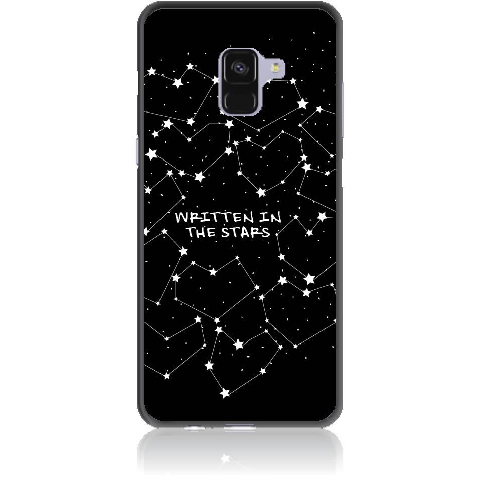 Written In Stars Black And White Sky Phone Case Design 50162 - Galaxy A8+ - Soft Tpu Case