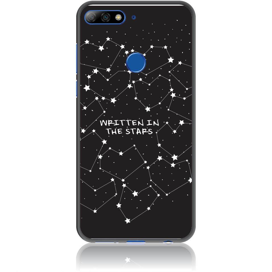 Written In Stars Black And White Sky Phone Case Design 50162  -  Honor 7c  -  Soft Tpu Case