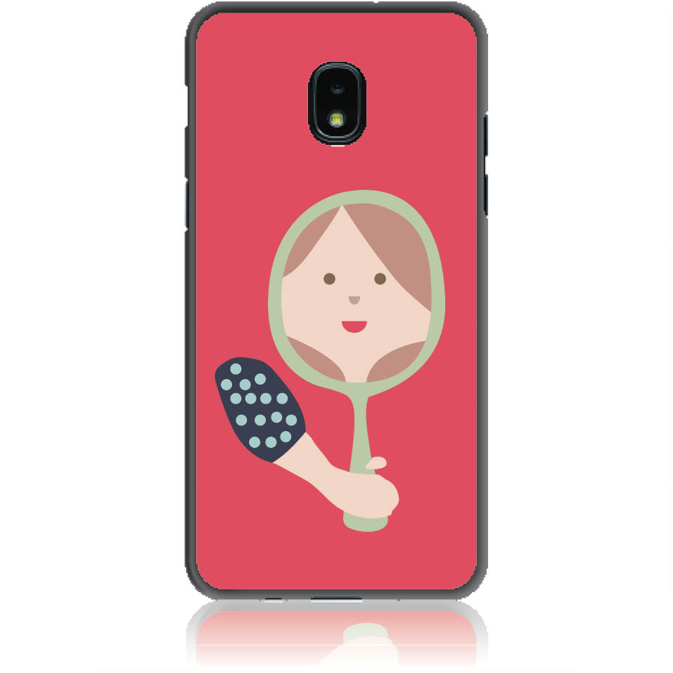 Mirro Mirror Phone Case Design 50164  -  Samsung Galaxy J3 (2018)  -  Soft Tpu Case