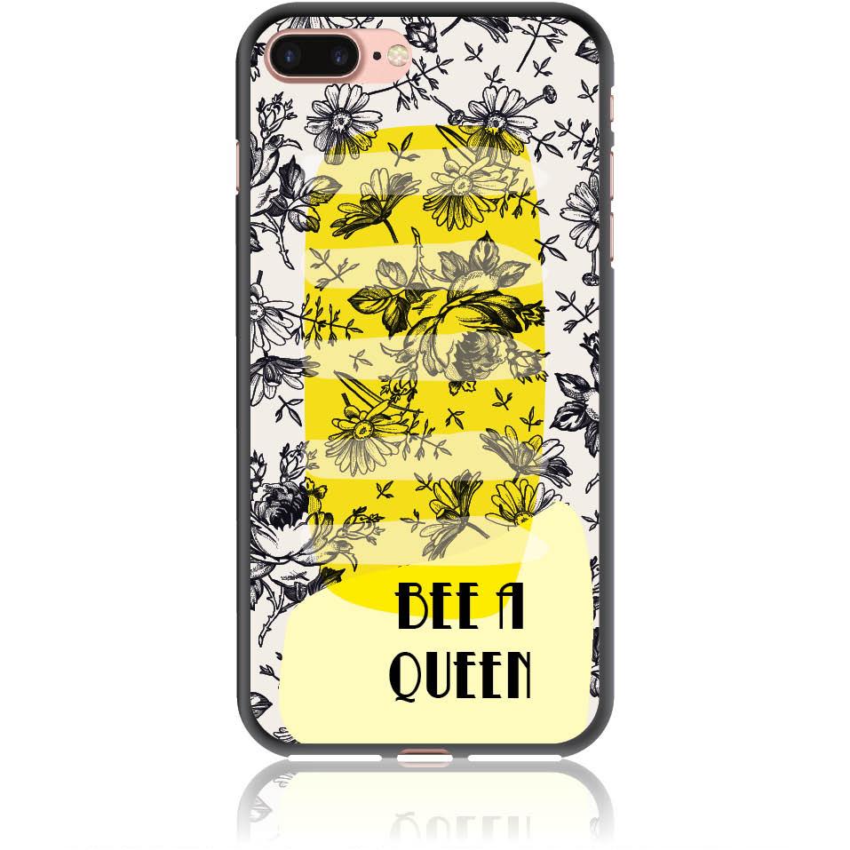 Bee A Queen Phone Case Design 50169  -  Iphone 8 Plus  -  Soft Tpu Case