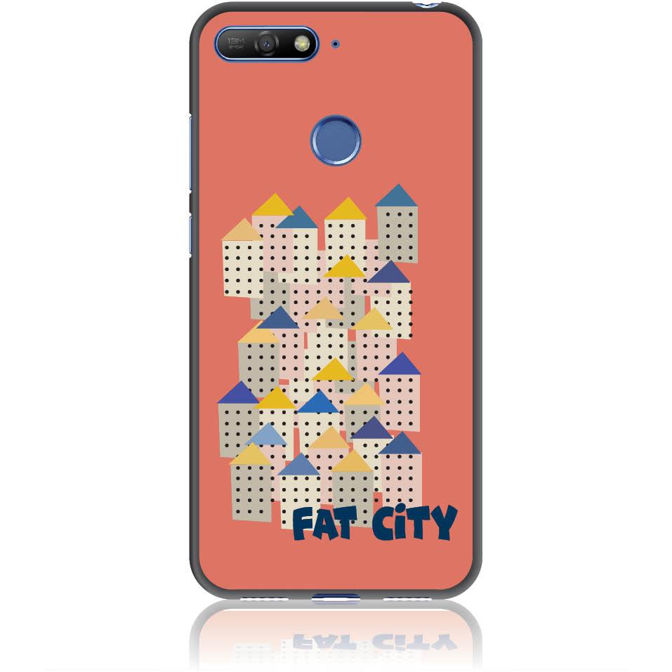 Fat City Pastel Phone Case Design 50171  -  Honor 7a  -  Soft Tpu Case