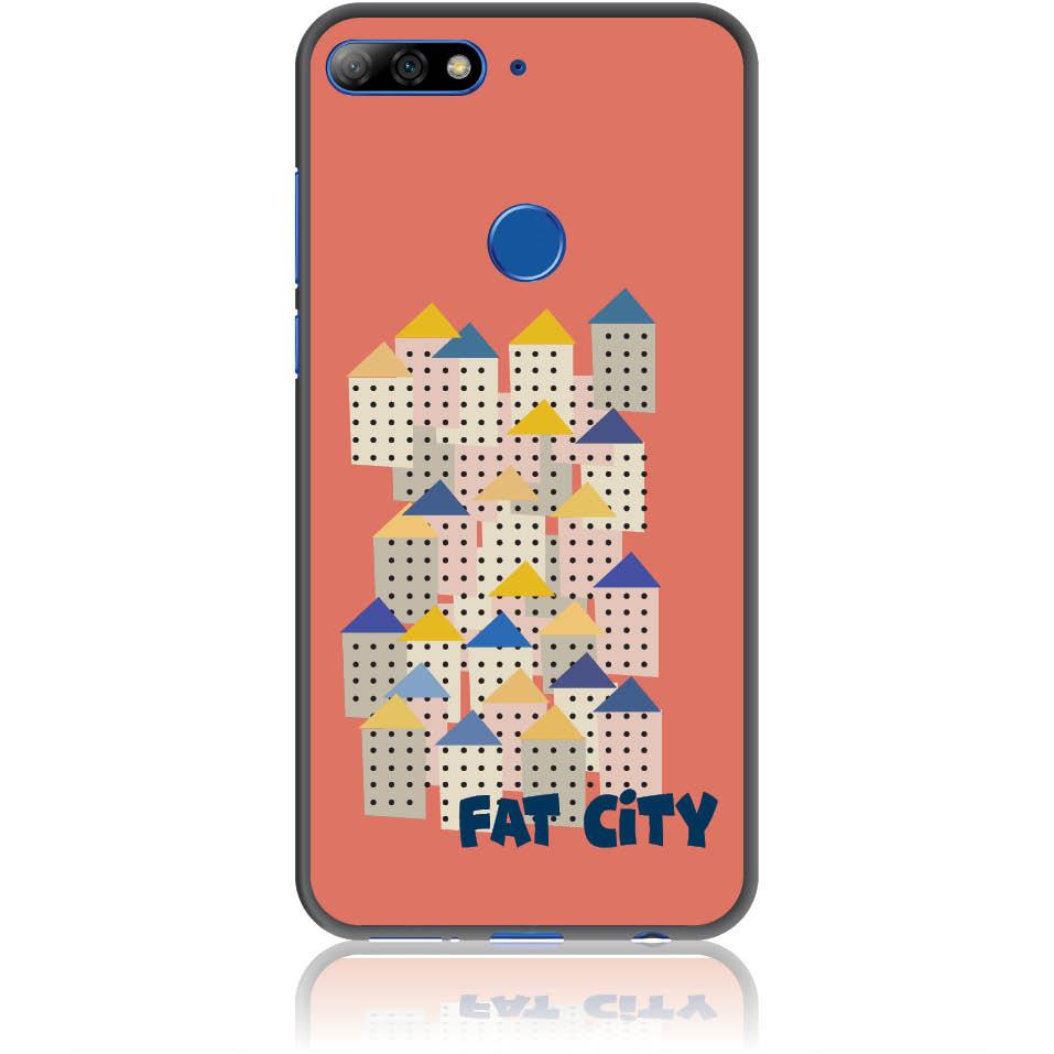 Fat City Pastel Phone Case Design 50171  -  Honor 7c  -  Soft Tpu Case