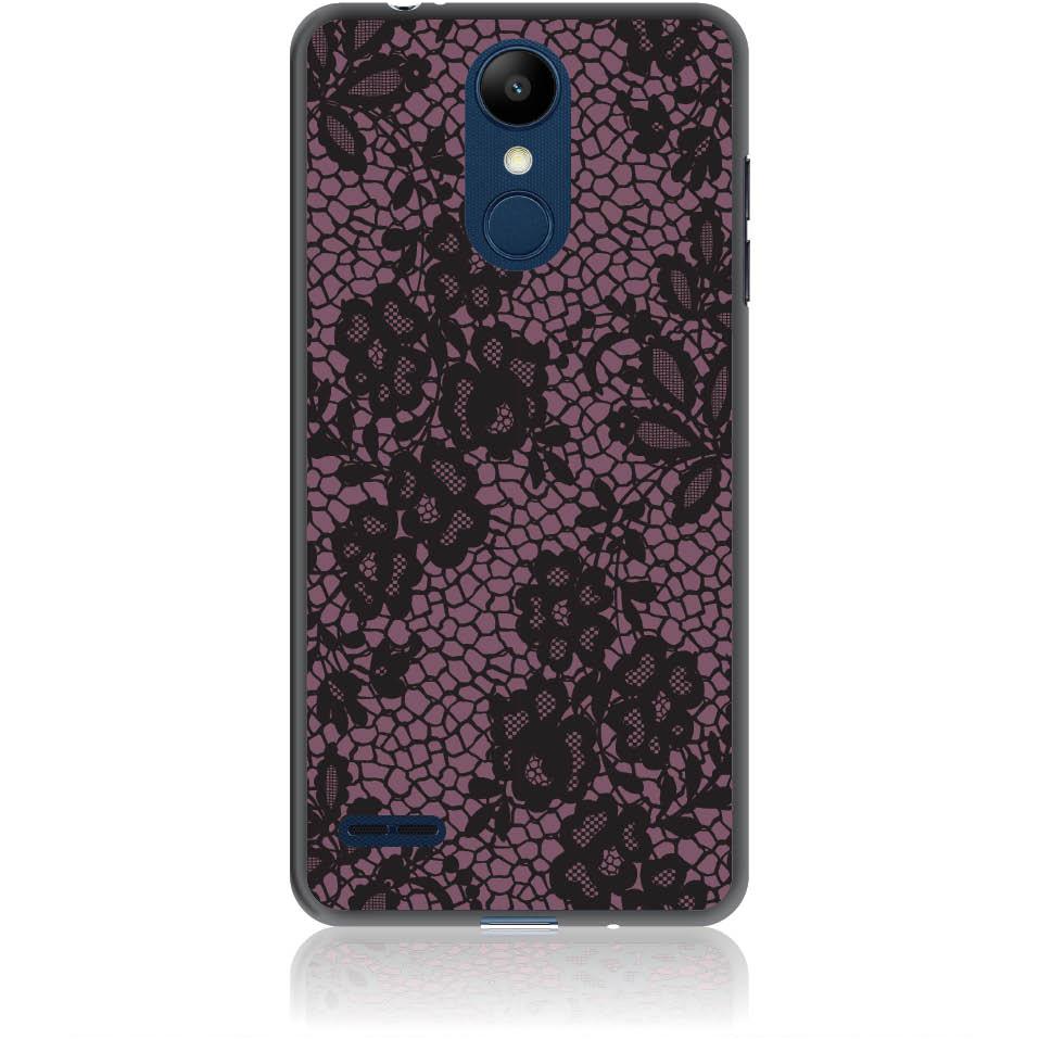 Purple Flower Pattern Phone Case Design 50182  -  Lg K8 (2018) / Lg K9 For Russia  -  Soft Tpu Case