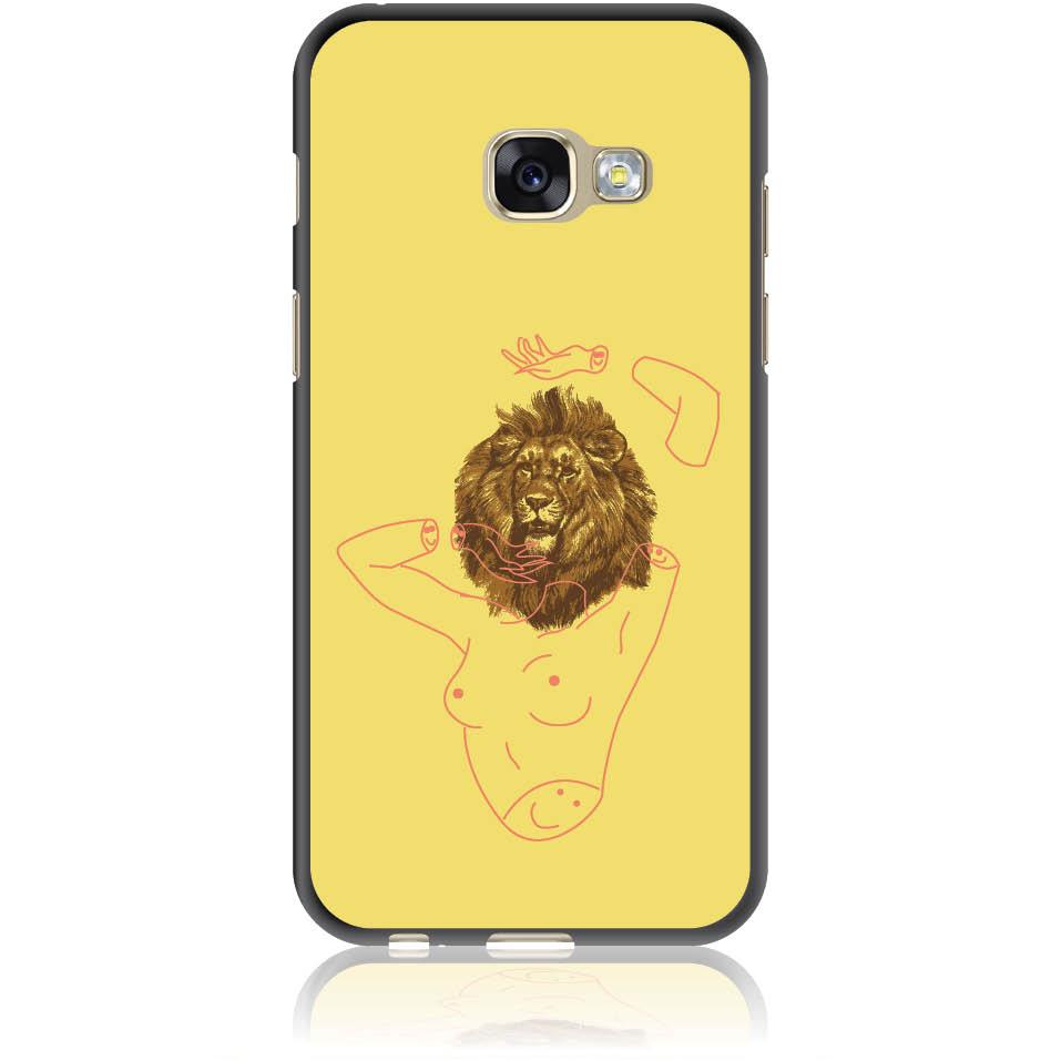 Wild And Free Yellow Lion Head Body Phone Case Design 50190 - Galaxy A3 () - Soft Tpu Case