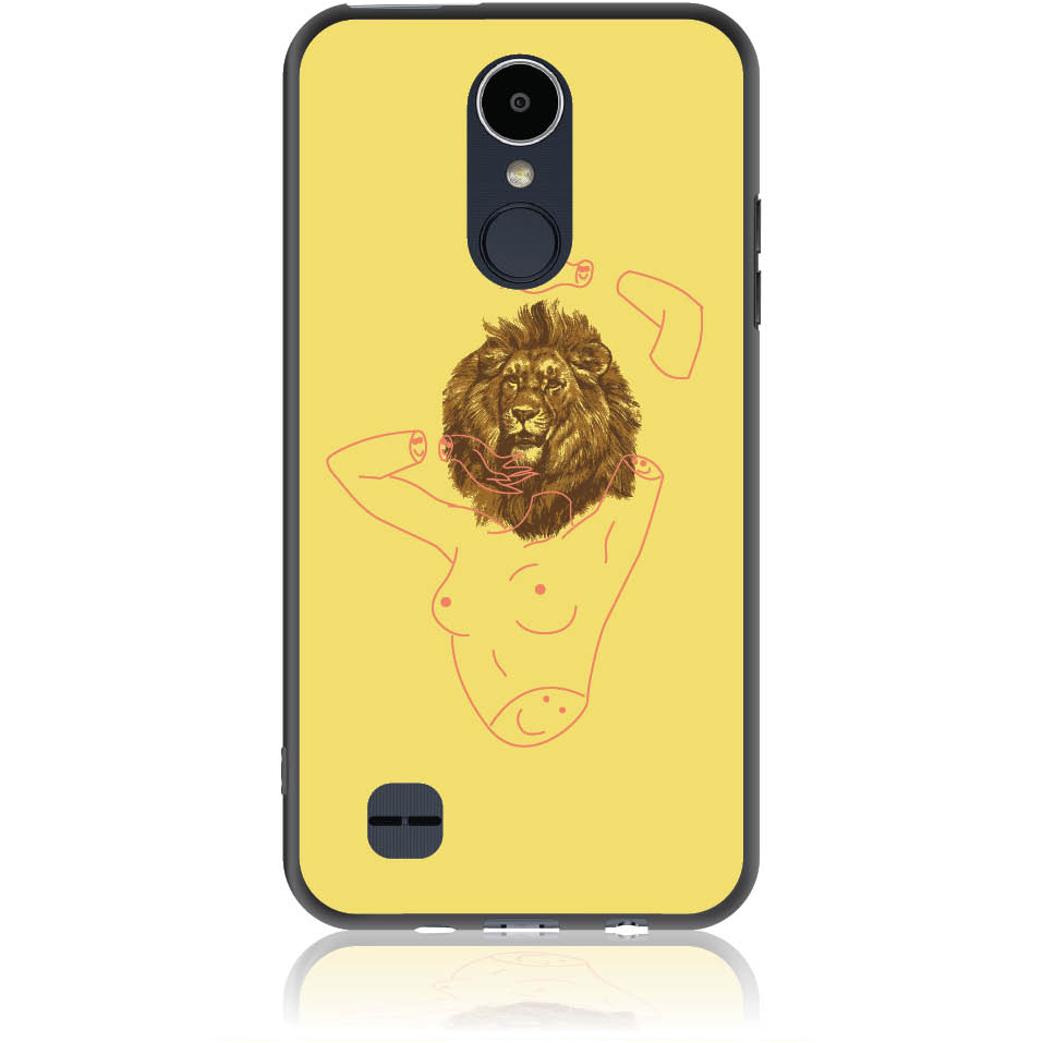 Wild And Free Yellow Lion Head Body Phone Case Design 50190  -  Lg K8 2017  -  Soft Tpu Case