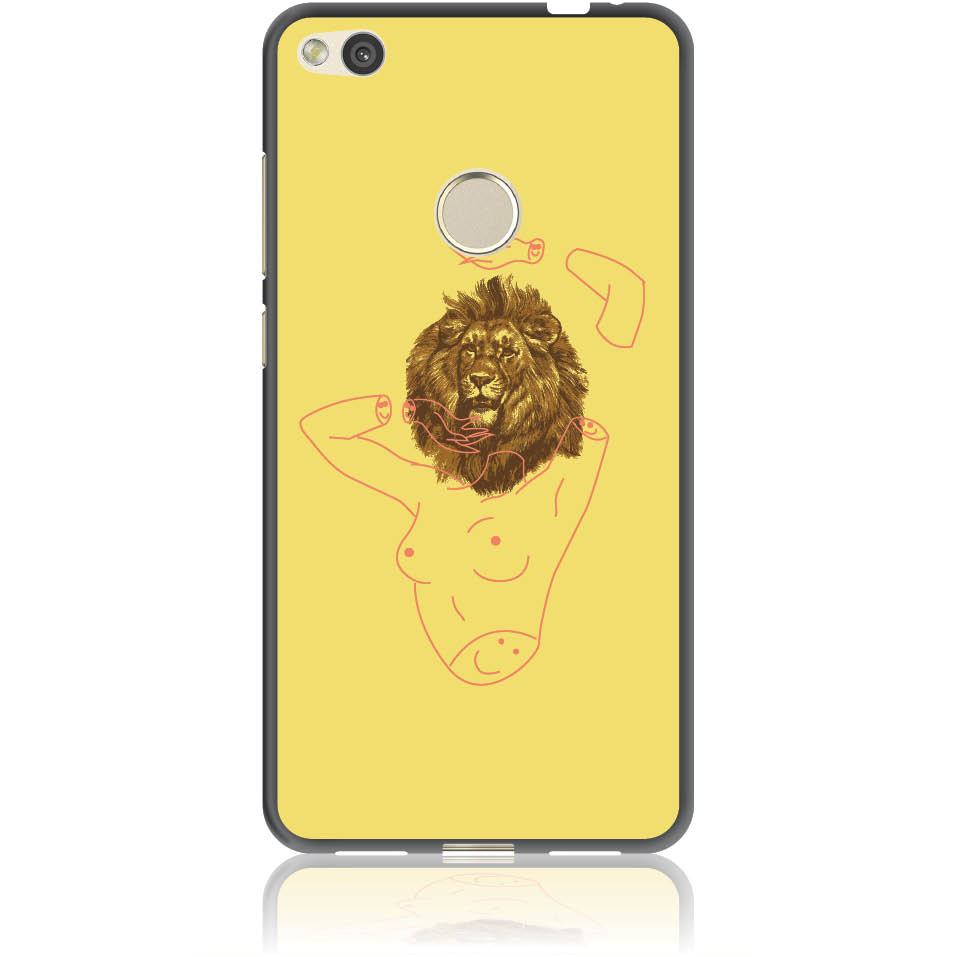Wild And Free Yellow Lion Head Body Phone Case Design 50190  -  Huawei P8 -