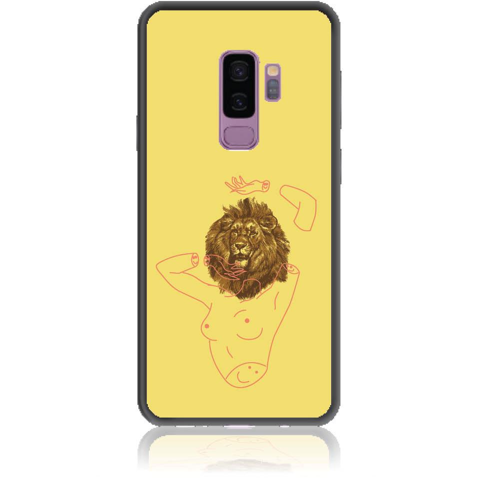 Wild And Free Yellow Lion Head Body Phone Case Design 50190 - Galaxy S9+ - Soft Tpu Case