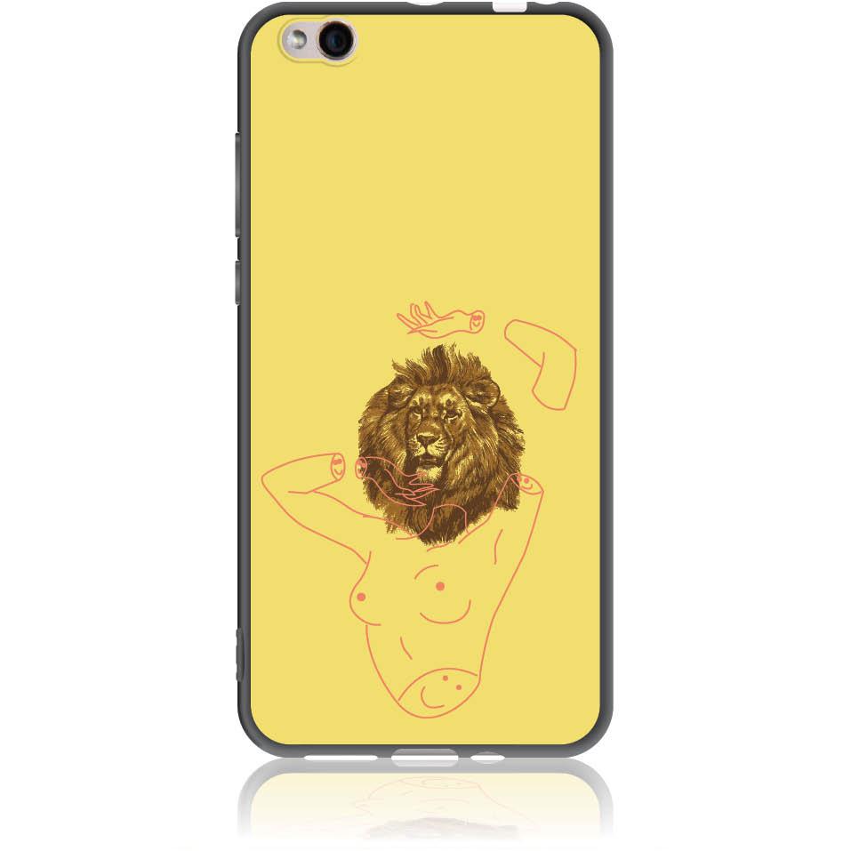 Wild And Free Yellow Lion Head Body Phone Case Design 50190  -  Xiaomi Mi 5c  -  Soft Tpu Case