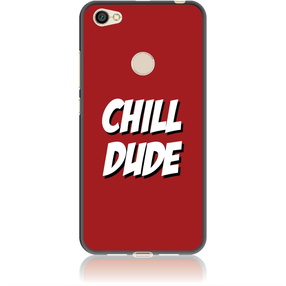 Chill Dude Phone Case Design 50198  -  Xiaomi Redmi Note 5a Prime  -  Soft Tpu Case