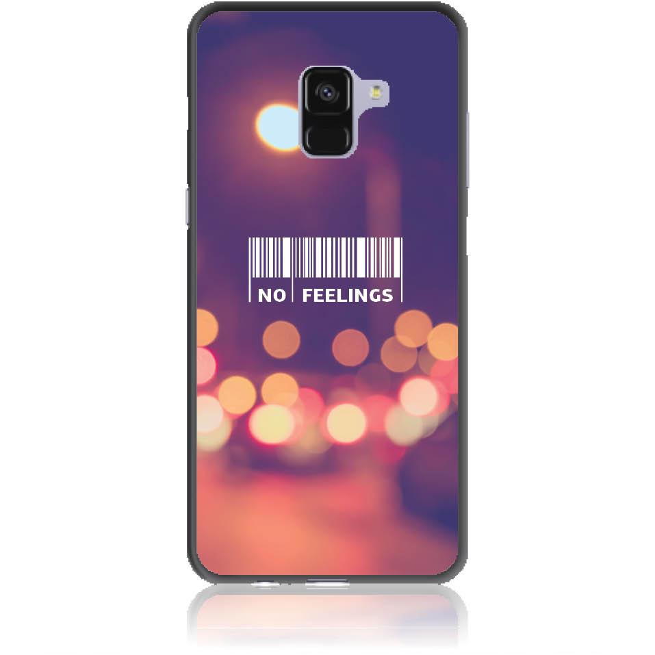 No Feelings Barcode Phone Case Design 50223  -  Samsung Galaxy A8+ (2018)  -  Soft Tpu Case