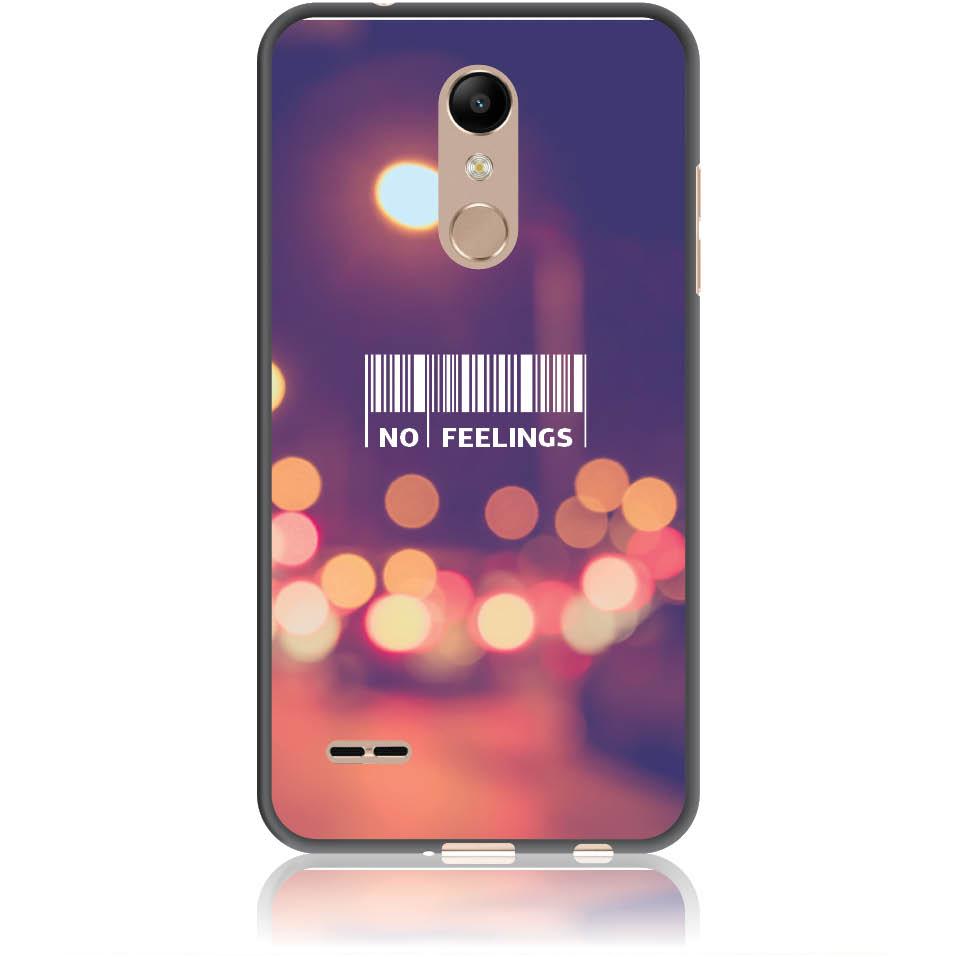 No Feelings Barcode Phone Case Design 50223  -  Lg K10 (2018)  -  Soft Tpu Case