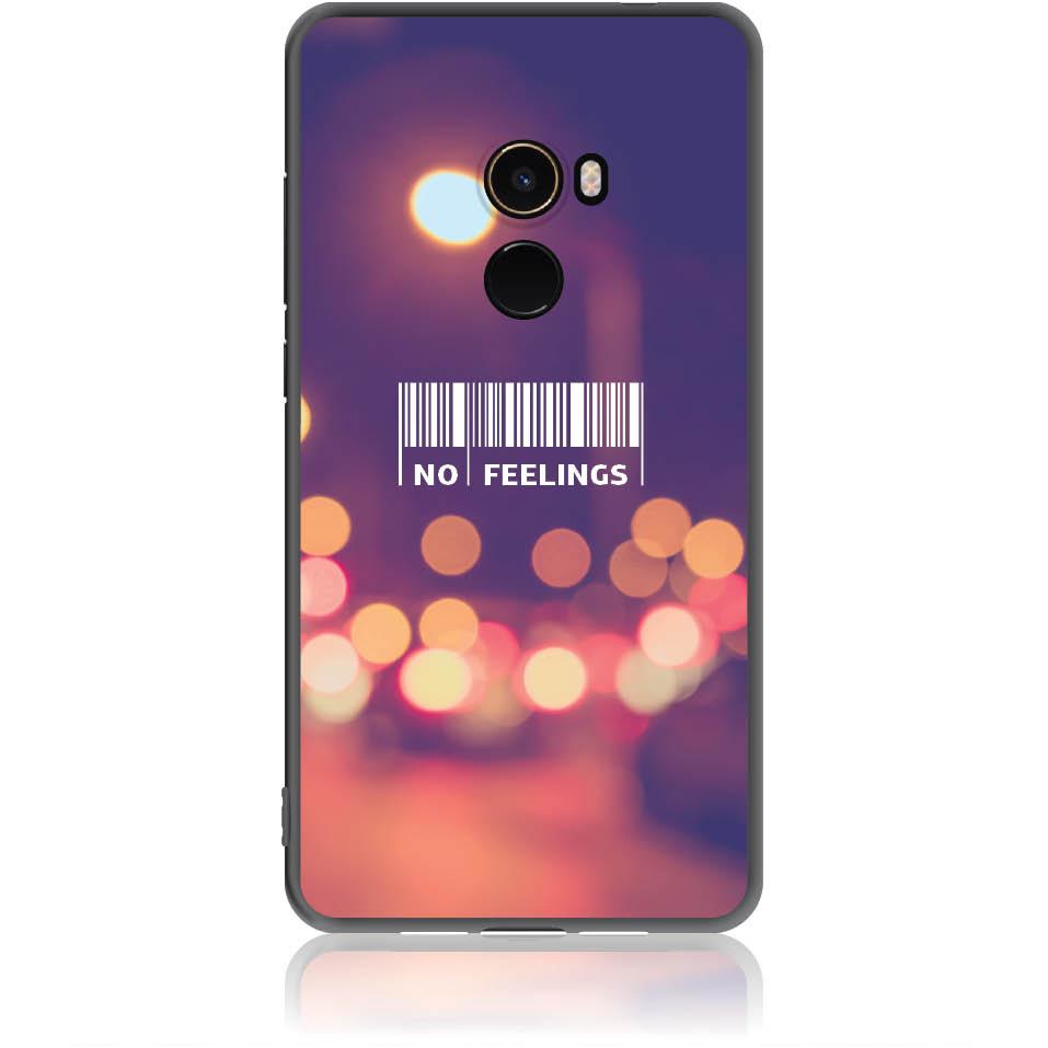 No Feelings Barcode Phone Case Design 50223  -  Xiaomi Mi Mix 2  -  Soft Tpu Case