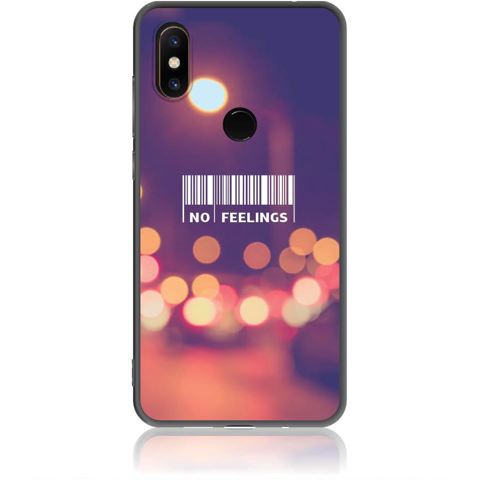 No Feelings Barcode Phone Case Design 50223  -  Xiaomi Mi Mix 2s  -  Soft Tpu Case