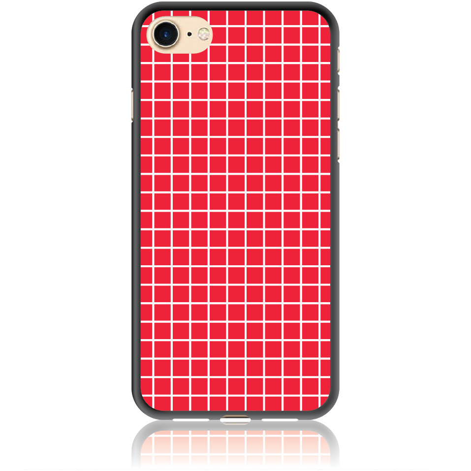 Red Checked Pattern Phone Case Design 50224  -  Iphone 7  -  Soft Tpu Case